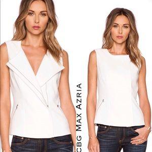 Bcbg Max Azria Mallary Vest In off white